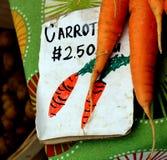 Καρότα για την πώληση Στοκ Εικόνες