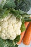 Καρότα και κουνουπίδι μπρόκολου Στοκ Εικόνα