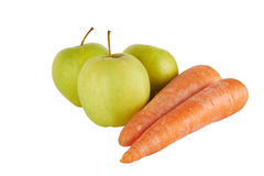 καρότα μήλων Στοκ φωτογραφίες με δικαίωμα ελεύθερης χρήσης