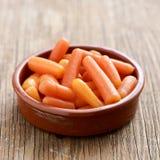καρότα μωρών που απομονώνονται Στοκ Φωτογραφία