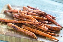 καρότα που βερνικώνονται Στοκ εικόνες με δικαίωμα ελεύθερης χρήσης