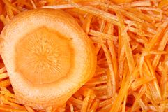 καρότα που τεμαχίζονται Στοκ φωτογραφίες με δικαίωμα ελεύθερης χρήσης