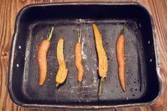 καρότα που ψήνονται Στοκ εικόνα με δικαίωμα ελεύθερης χρήσης