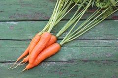 Καρότα στους πίνακες Στοκ Φωτογραφία