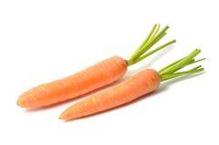 Καρότα στο λευκό Στοκ Φωτογραφία