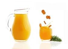 Καρότα το χυμό που απομονώνεται με Στοκ εικόνα με δικαίωμα ελεύθερης χρήσης