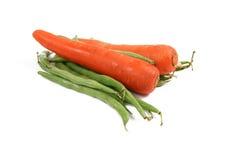 καρότα φασολιών Στοκ φωτογραφία με δικαίωμα ελεύθερης χρήσης