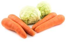 Καρότο και λάχανο Στοκ Εικόνες