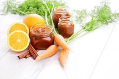 Καρότο και πορτοκαλιά μαρμελάδα στοκ φωτογραφίες