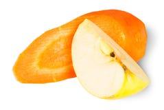Καρότο και Apple φετών Στοκ εικόνα με δικαίωμα ελεύθερης χρήσης