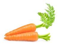 Καρότο που απομονώνεται στο λευκό στοκ εικόνες