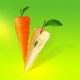 καρότο που απομονώνεται απεικόνιση αποθεμάτων