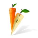 καρότο που απομονώνεται Στοκ Εικόνες