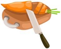 καρότο που τεμαχίζεται απεικόνιση αποθεμάτων