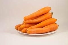 Καρότο σε ένα πιάτο Στοκ εικόνες με δικαίωμα ελεύθερης χρήσης