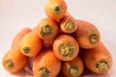 Καρότο σε ένα πιάτο Στοκ Φωτογραφία