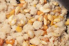 Καρότο, σπόροι, κολοκύθα και κουσκούς Στοκ Εικόνα