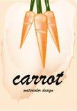 Καρότο στο θολωμένο υπόβαθρο Στοκ Εικόνες