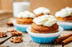 Καρότο cupcake Στοκ Εικόνα