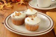 Καρότο cupcakes Στοκ φωτογραφία με δικαίωμα ελεύθερης χρήσης
