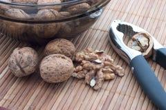 Καρύδια και κροτίδα καρυδιών Στοκ φωτογραφία με δικαίωμα ελεύθερης χρήσης