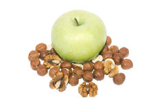 καρύδια μήλων στοκ φωτογραφία