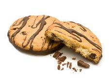 καρύδια μπισκότων σοκολά&t Στοκ φωτογραφία με δικαίωμα ελεύθερης χρήσης