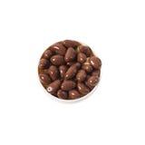 Καρύδια στη σοκολάτα στοκ φωτογραφία