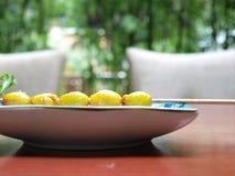 καρύδια ginkgo στοκ φωτογραφία