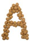καρύδι πιπεροριζών αλφάβητου Στοκ φωτογραφία με δικαίωμα ελεύθερης χρήσης