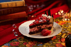 καρύδι σοκολάτας κέικ Στοκ εικόνα με δικαίωμα ελεύθερης χρήσης