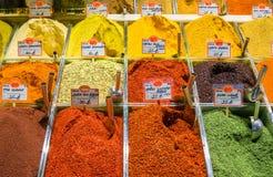 Καρύκευμα αιγυπτιακό σε bazaar, Istambul, Τουρκία Στοκ φωτογραφία με δικαίωμα ελεύθερης χρήσης
