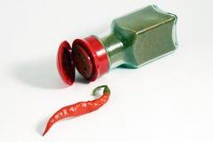 καρύκευμα πιπεριών τσίλι Στοκ Εικόνες