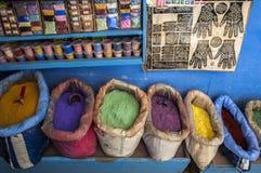 Καρύκευμα σε Medina Chefchaouen στο Μαρόκο Στοκ Εικόνες