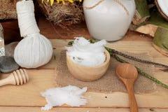 Καρύδα και γάλα, κοκοφοίνικες πετρελαίου για τα οργανικά υγιή τρόφιμα και ομορφιά στοκ εικόνα