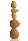καρύδια αμυγδάλων Στοκ εικόνα με δικαίωμα ελεύθερης χρήσης