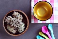 Καρύδια πεύκων Στοκ Φωτογραφίες