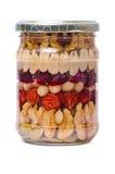 Καρύδια στο μέλι στο δοχείο στοκ φωτογραφία με δικαίωμα ελεύθερης χρήσης