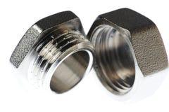 Καρύδι βιδών μετάλλων Στοκ εικόνες με δικαίωμα ελεύθερης χρήσης