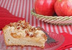καρύδι καφέ κέικ μήλων Στοκ φωτογραφία με δικαίωμα ελεύθερης χρήσης