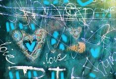 Καρδιά έννοιας grunge συρμένο χέρι Αφηρημένο εκλεκτής ποιότητας υπόβαθρο βαλεντίνων με τη σύσταση grunge αφίσα Ανασκόπηση αγάπης Στοκ Εικόνες