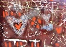 Καρδιά έννοιας grunge συρμένο χέρι Αφηρημένο εκλεκτής ποιότητας υπόβαθρο βαλεντίνων με τη σύσταση grunge αφίσα Ανασκόπηση αγάπης Στοκ φωτογραφία με δικαίωμα ελεύθερης χρήσης