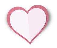 Καρδιά αγάπης εγγράφου Στοκ φωτογραφία με δικαίωμα ελεύθερης χρήσης