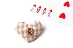 Καρδιά αγάπης καρτών γεφυρών Στοκ Φωτογραφίες