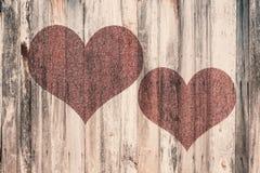 Καρδιά αγάπης στο εκλεκτής ποιότητας ξύλο Στοκ φωτογραφίες με δικαίωμα ελεύθερης χρήσης