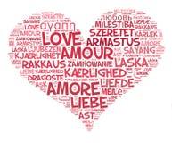 Καρδιά αγάπης Στοκ Εικόνες