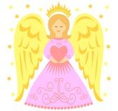 Καρδιά αγγέλου διανυσματική απεικόνιση