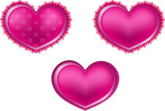 Καρδιά δαντελλών απεικόνιση αποθεμάτων