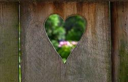 Καρδιά από μια πόρτα τουαλετών Στοκ Φωτογραφίες