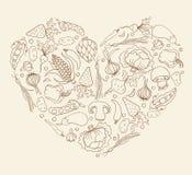 Καρδιά από τα λαχανικά Στοκ φωτογραφίες με δικαίωμα ελεύθερης χρήσης